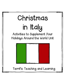 Christmas in Italy {Supplemental Activities for Holidays Around the World}