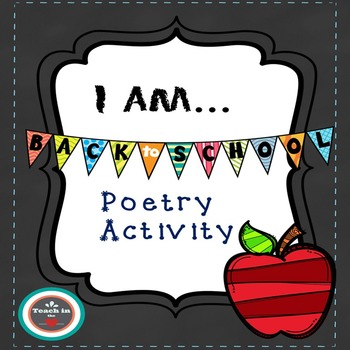 """""""I Am..."""" poetry activity"""