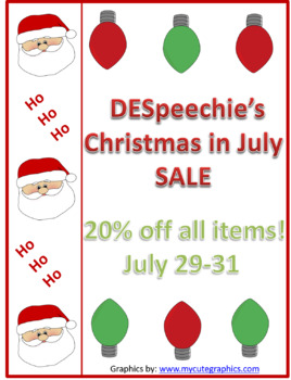 Christmas in July Sale 20% off