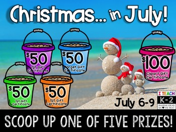 Christmas in July Sale and HUGE GIVEAWAY!!