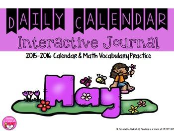 Calendar Journal ~ May