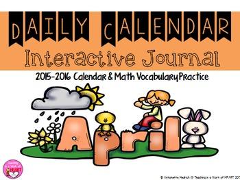 Calendar Journal ~ April
