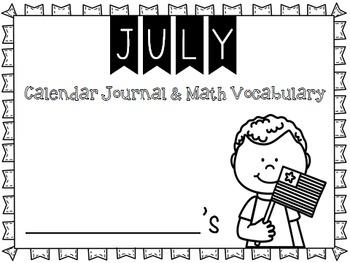 Calendar Journal ~ July