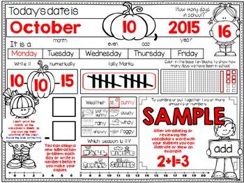 Calendar Journal ~ October
