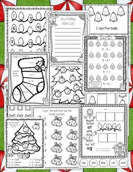 Christmas in Kindergarten! Common Core Christmas Math and Literacy Printables