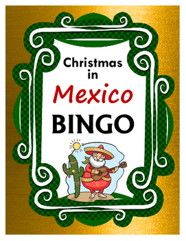 Christmas in Mexico BINGO + 12 bonus pages of vocabulary words