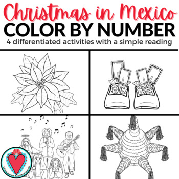 Christmas in Mexico Color by Number - Spanish