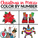 Spanish Color By Number - Spanish Christmas in Mexico Las