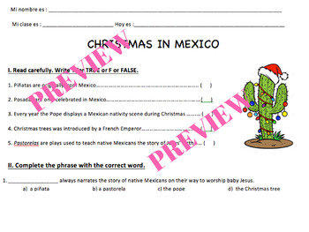 Christmas in Mexico - Cultural Lesson Plan