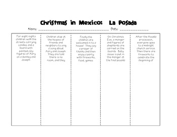 Christmas in Mexico: Drawing Conclusions + Las Posadas Activity Page!