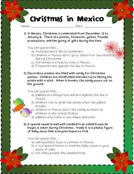 Christmas in Mexico: Drawing Conclusions + Las Posadas Act