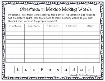 Las Posadas-Christmas in Mexico-Common Core Aligned