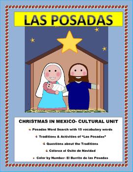 Christmas in Mexico- Las Posadas Traditions- Cultural Lesson Plan - SUB PLAN