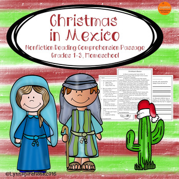 Christmas in Mexico: Non-fiction Reading Comprehension Passage for Grades 1-3