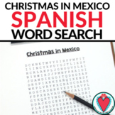 Spanish Christmas in Mexico Las Posadas WORD SEARCH
