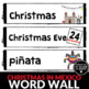 Christmas in Mexico Word Wall - English version