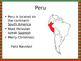 Christmas in Peru PowerPoint