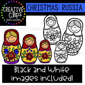 Christmas in Russia Clipart {Creative Clips Clipart}