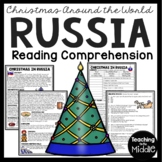Christmas in Russia Reading Comprehension; Christmas Around the World