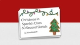 Christmas in Spanish Class - 60 Second Sketch - Google Slides