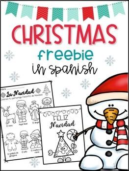 Christmas in Spanish Freebie