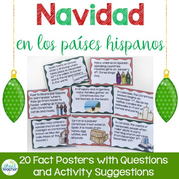Christmas in Spanish Speaking Countries Posters and Activities Navidad