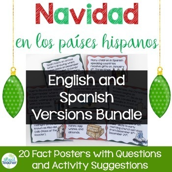 Christmas in Spanish Speaking Countries Posters and Activities BUNDLE