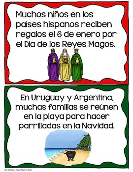 Christmas in Spanish Speaking Countries Posters and Activities SPANISH VERSION