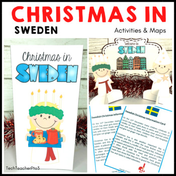 Christmas Around the World ** Sweden ** Maps, Flags, Information Cards & Recipe