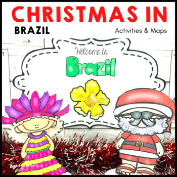 Christmas Around the World BRAZIL Maps Flags Information Cards and Recipe