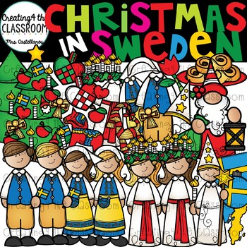 Christmas in Sweden Clipart {Christmas Around the World Clipart}