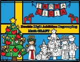 Christmas in Sweden Double Digit Addition Regrouping Math Craft