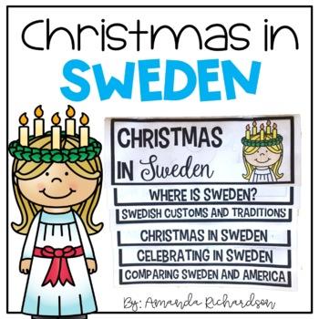 Christmas in Sweden Flip Up Book