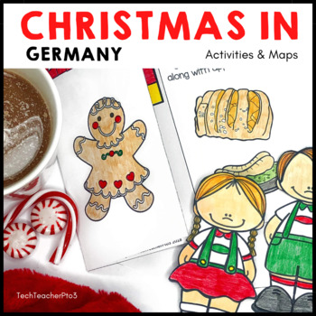 Christmas Around the World GERMANY Maps Flags Information Cards and Recipe