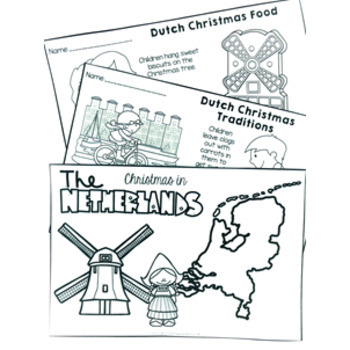 Christmas Around the World NETHERLANDS Maps Flags Information Cards and Recipe