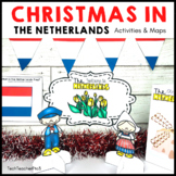 Christmas Around the World the NETHERLANDS map traditions food flags