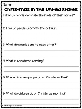 Christmas in the United States - Christmas Around the World Social Studies Unit