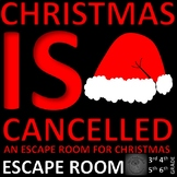 Christmas is Cancelled - ESCAPE ROOM - Problem Solving, Math, Word Skills