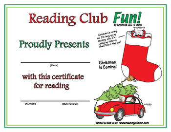 Christmas is Coming Reading Log and Certificate Set #2