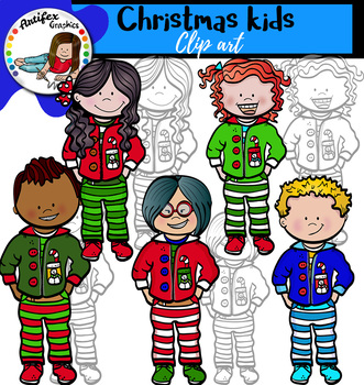 Christmas kids clip art- FREE!