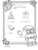Christmas kindergarten and 1st worksheet