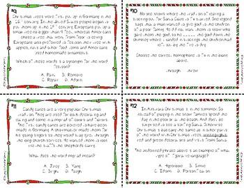 Christmas Language Arts Trivia Task Cards