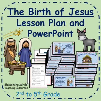 Christmas lesson plan and PowerPoint : The birth of Jesus