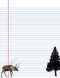 Christmas letter notebook paper