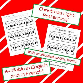 Christmas light patterning (in French!)