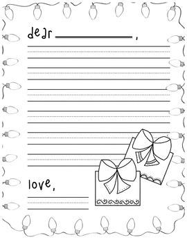 Christmas list/Santa letter/Christmas paper
