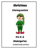 Christmas literacy centers for prek and kindergarten