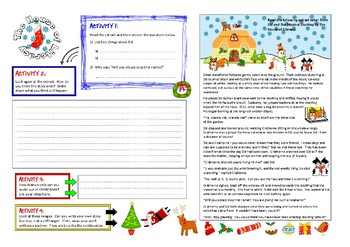 Christmas literacy writing activity