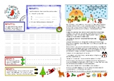 Christmas literacy writing activity