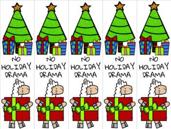 Christmas llama 2 bookmark